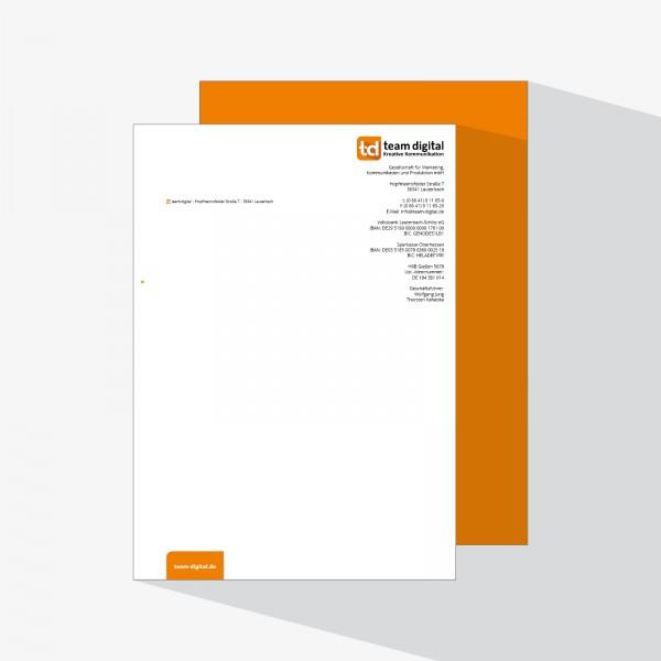 Briefpapier in DIN A4, Hochformat – druckexperten.de
