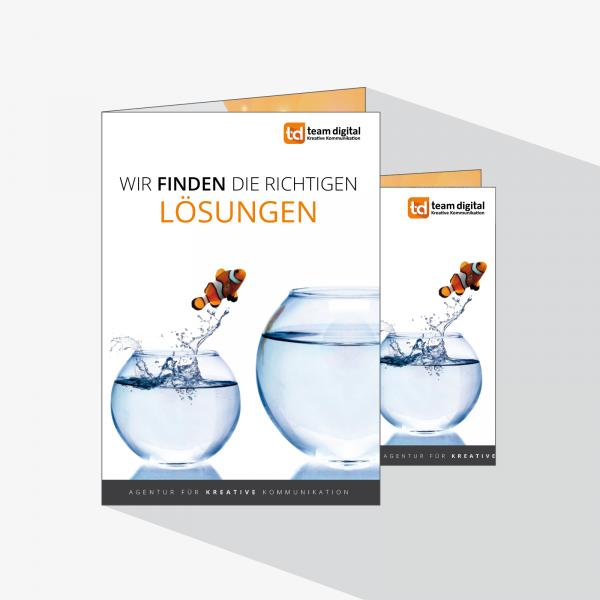 Faltblatt in DIN A5, Hoch- und Querformat – druckexperten.de
